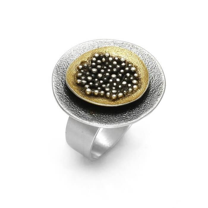 EvaStone Silver Ring